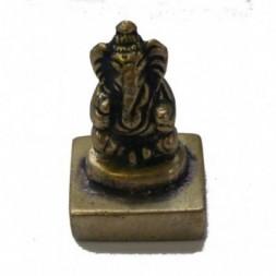 Ganesh Statue - Stamp seal -  Brass Statue
