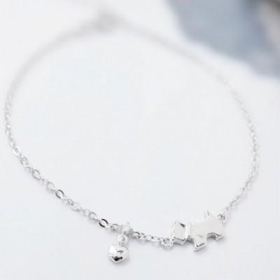 Dog Silver Bracelet