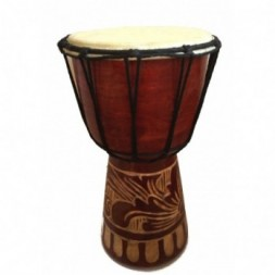 Authentic African Style 25cm Hand Carved Djembe Drum