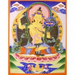 Majushri , Boddhisattva of Transcendent Wisdom  Thangka...