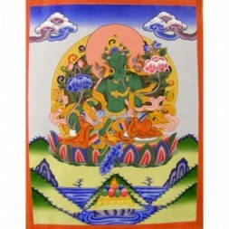 Green Tara,  Goddess of Youthful Activity Thangka Painting