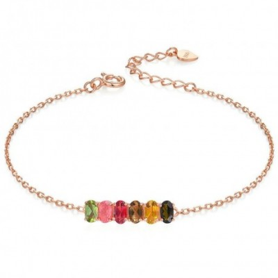 Colourful Jasper Silver Bracelet