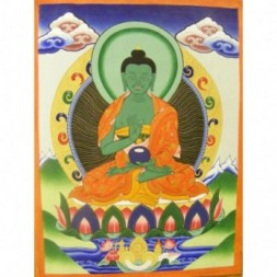 Amoghasiddhi, Buddha of the Conceptual Mind Thangka Painting