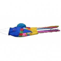 Large Colourful Balinese Fish Wind Sock - Festival Flag -...