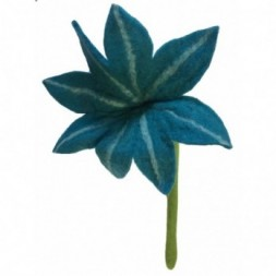 Blue chrysanthemum felt flower - large