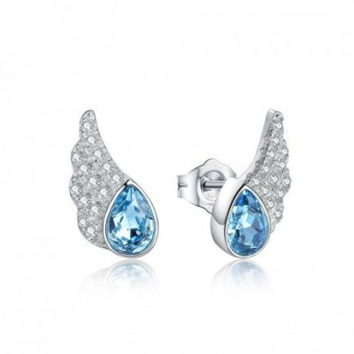 Aumtrian crystal Angel's Wings  Gemstone Silver Studs...