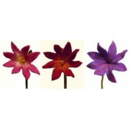 chrysanthemum felt flowers - set of 3 mixed medium