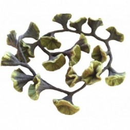 Green Hand Felted Flowers on a Green Vine - Garland of 20