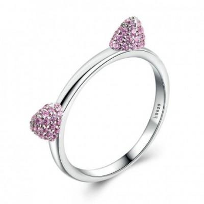 Cat Ears Gemstone & Silver Ring