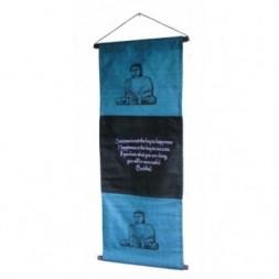 Blue Buddha Affirmation Wall Hanging