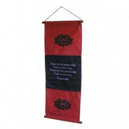 Red Passion Affirmation Wall Hanging