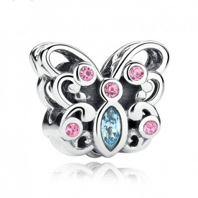 Butterfly  Gemstone Silver Charm