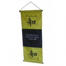 Green Harmony Affirmation Wall Hanging