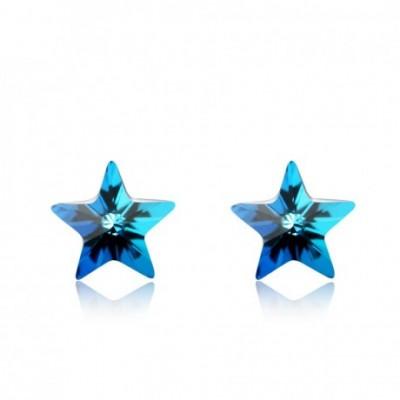 Aumtrian Crystal Star Silver Studs Earrings