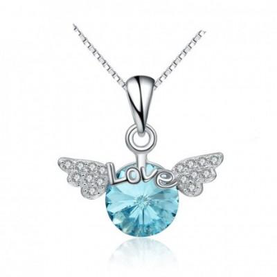 Angel's Wing Love Letters Aumtrian Crystal  Gemstone...