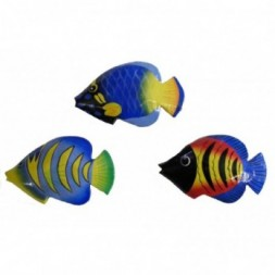 Hand Painted Colourful Balinese Kissing Fish Fridge Magnets
