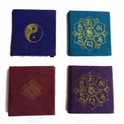 Lokta Paper Set of Four Mini Tibetan Design Notebooks