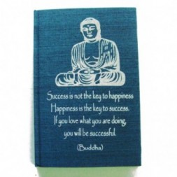 Blue Buddha Affirmation Hardback Notebook