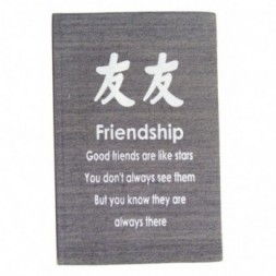 Grey Friendship Affirmation Hardback Notebook