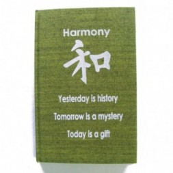 Green Harmony Affirmation Hardback Notebook