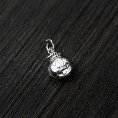 Chinese Fortune Pocket Silver Charm