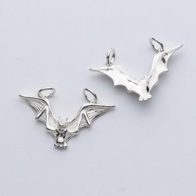 Bat Animal Silver Charm