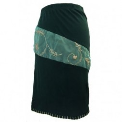 Green Stretch Skirt