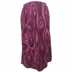 Maroons and Pink Elasticated Retro Skirt
