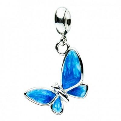 Butterfly Silver & Enamel Pendant