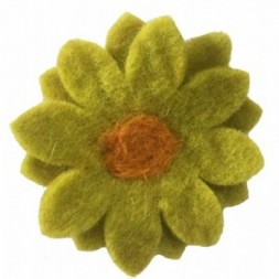 Felt Chrysanthemum Flower Brooch
