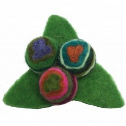 Stylish Stylised Triangular Hand made Felt Swirly Flower...