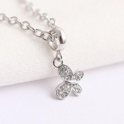 Butterfly  Gemstone Silver Pendant