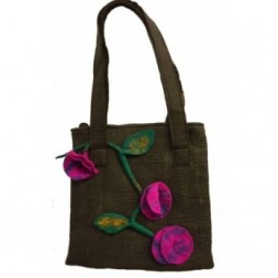 Felt Flower Shoulder Bag