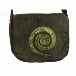 Sequin Eternal Spiral Baby Cord Shoulder Bag