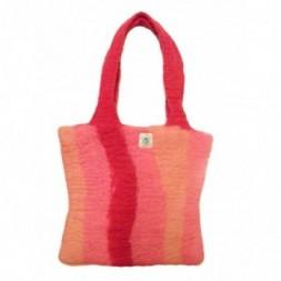 Stripey Pink Hand Bag