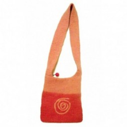 Pink Eternal Spiral Felt Shoulder Bag