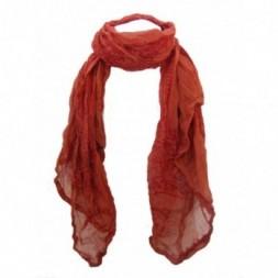 Orange-Red Ram Nami Scarf