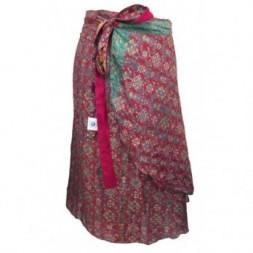 Pink Short Silk Sari