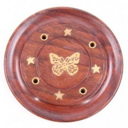 Butterfly Incense Stick and Cone Holder Round