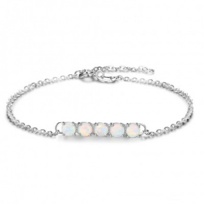 colourful  Opal Bar Solid Silver Bracelet