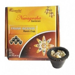 Box of 12 Resin Incense Cups - Frankincense