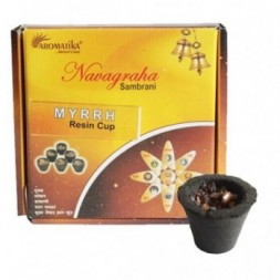 Box of 12 Resin Incense Cups - Myrrh