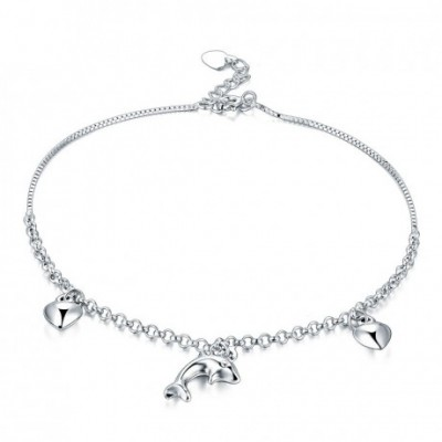Dolphin Hearts Silver Bracelet