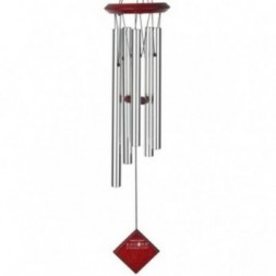 Polaris Wind Chime Silver - Dark Wood Finish