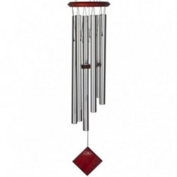 Earth Wind Chime Silver - Dark Wood Finish