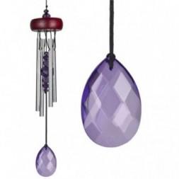 Violet Gem Crystal Wind Chime