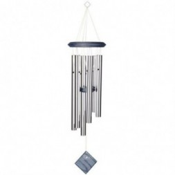 Pluto Wind Chime Silver -  Blue Wash Finish