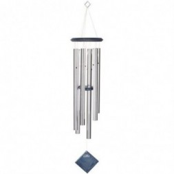 Earth Wind Chime Silver -  Blue Wash Finish