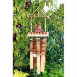 Bamboo Wind Chime - Buddha Design