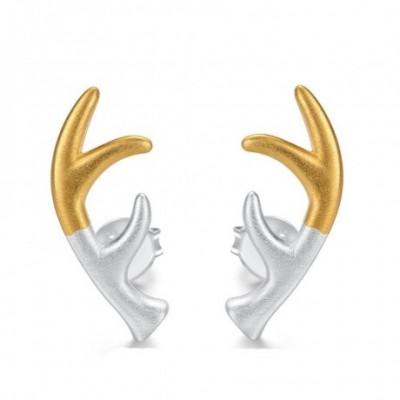 Antlers Silver Studs Earrings